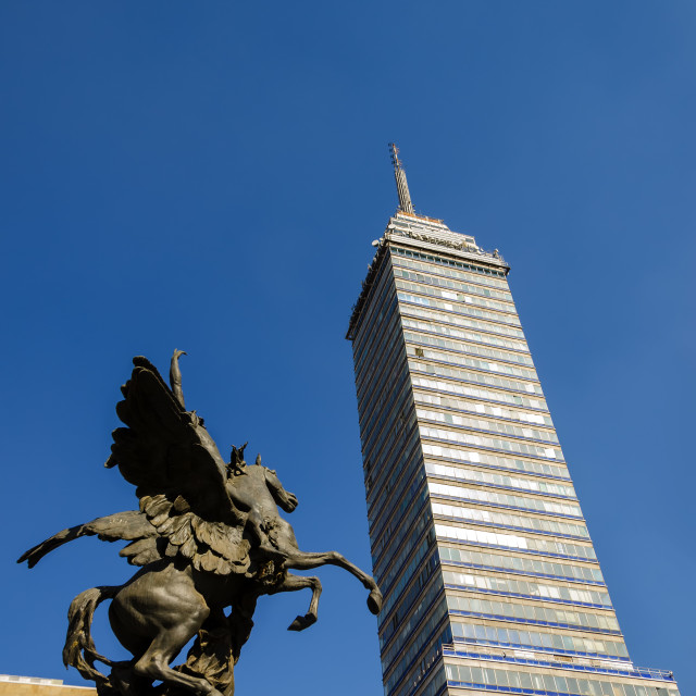 """Latin American Tower and Statue"" stock image"