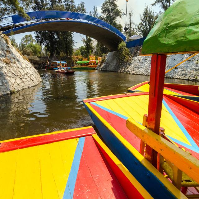 """Xochimilco Canal"" stock image"