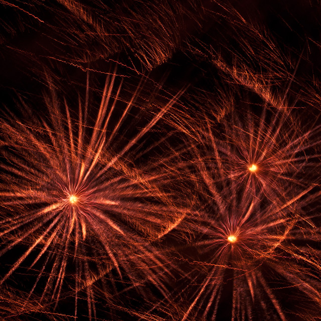 """""""Abstract of Fireworks on Black"""" stock image"""