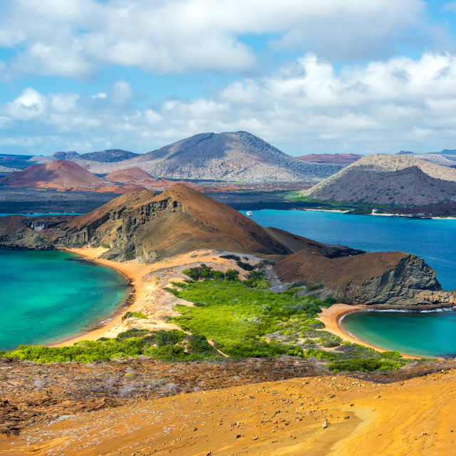 """View from Bartolome Island"" stock image"