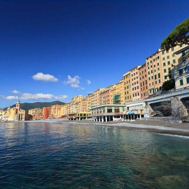 """seaside in Camogli"" stock image"