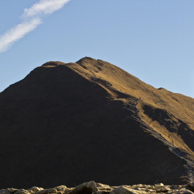 """""""Peak of Volovec"""" stock image"""