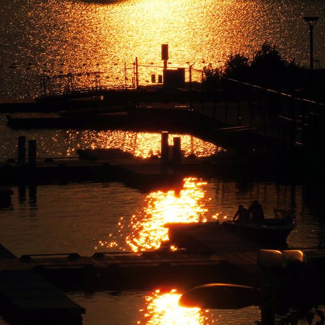 """""""Dramatic Sunset"""" stock image"""
