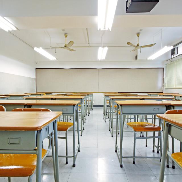 """""""empty classroom"""" stock image"""