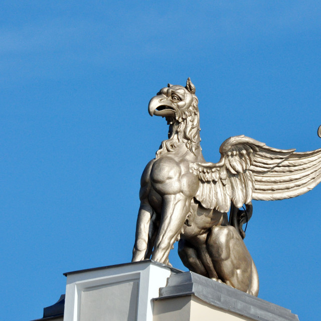 """""""Statue of a griffin"""" stock image"""