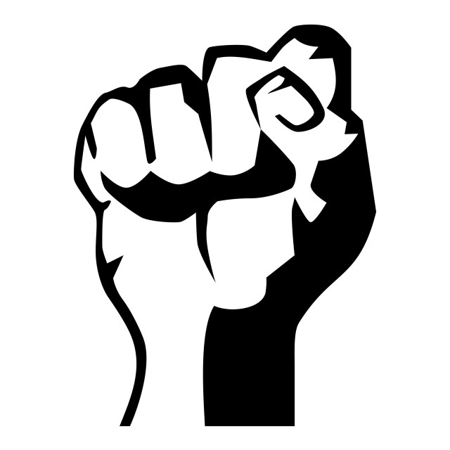 """Revolution fist"" stock image"