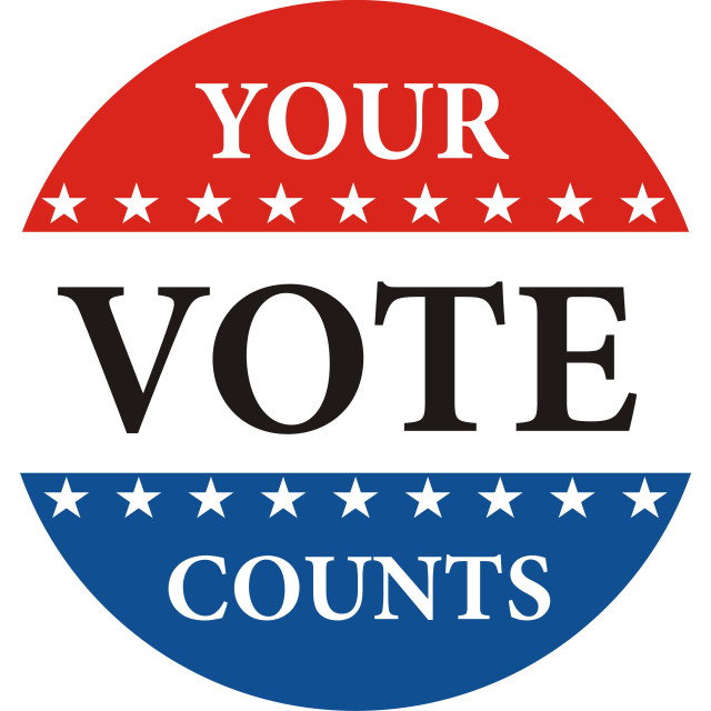 """your vote counts"" stock image"