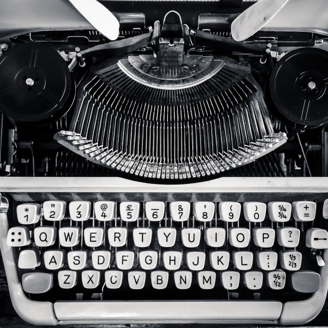 """The age of the typewriter"" stock image"