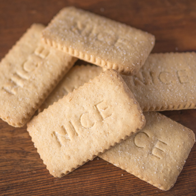 """Nice Biscuits"" stock image"