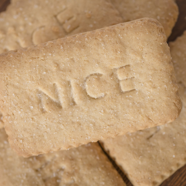 """""""Nice Biscuits"""" stock image"""
