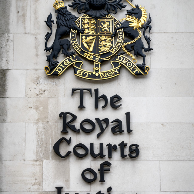 """""""Royal Courts of Justice, Strand,London"""" stock image"""