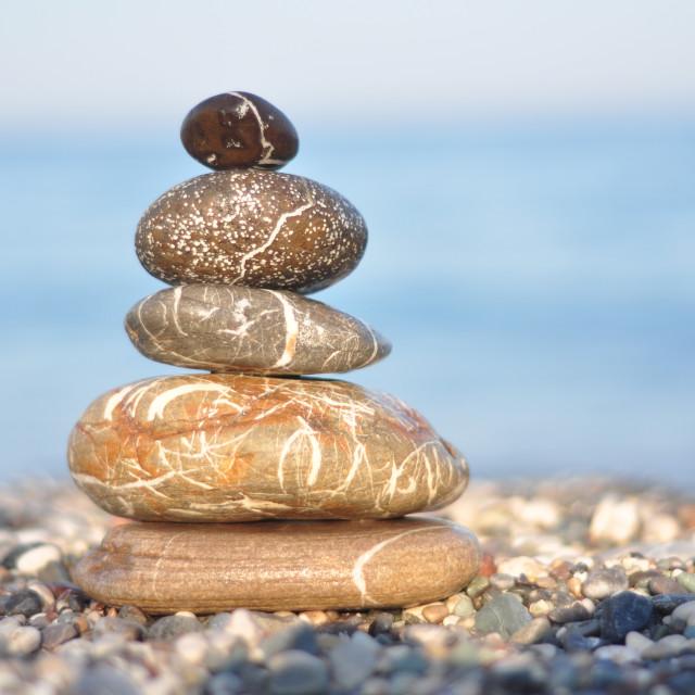 """""""Zen dark stones"""" stock image"""