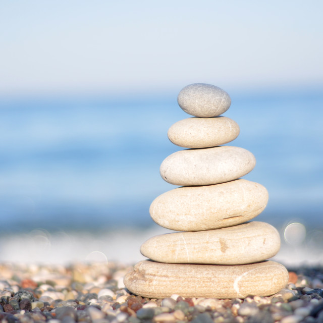 """""""Zen white stones"""" stock image"""