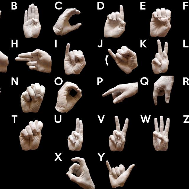 """Sign Language American alphabet"" stock image"