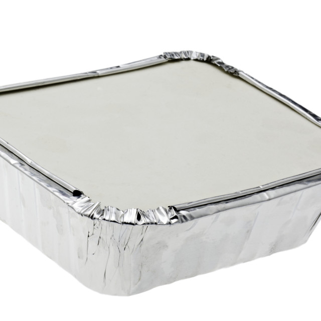 """""""Take Away Food in Foil Container"""" stock image"""