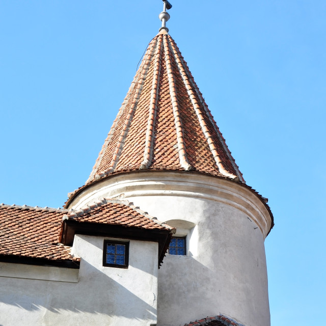 """""""dracula castle tower"""" stock image"""