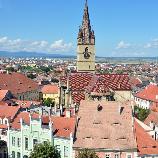 """Sibiu Lutheran Cathedral"" stock image"