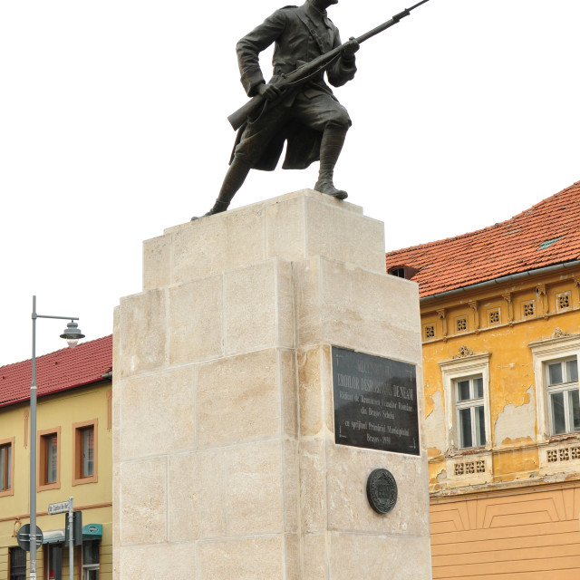 """Brasov unknown soldier statue"" stock image"