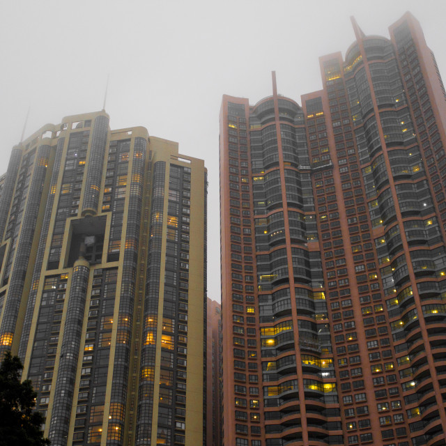 """Hong Kong High Rise"" stock image"