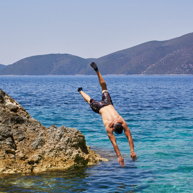 """Sea jumping"" stock image"