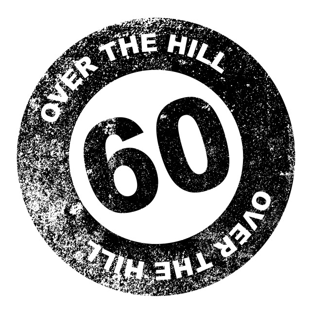 """Over the Hill 60 Stamp"" stock image"