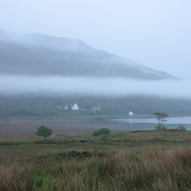 """""""Long white cloud of Kinloch"""" stock image"""