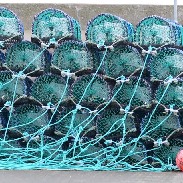 """Lobster pots"" stock image"