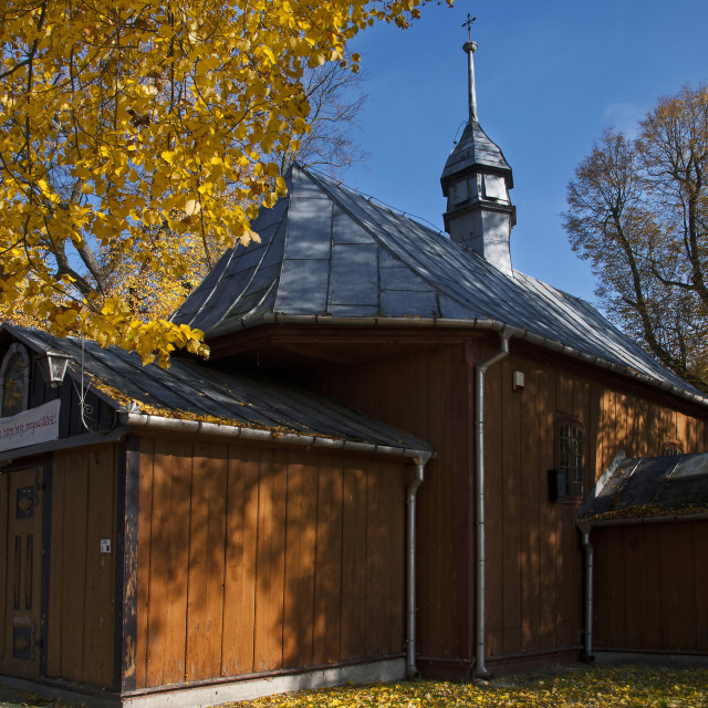 """""""Wooden church"""" stock image"""