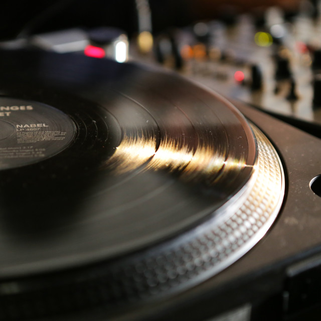 """""""Vinyl 1"""" stock image"""