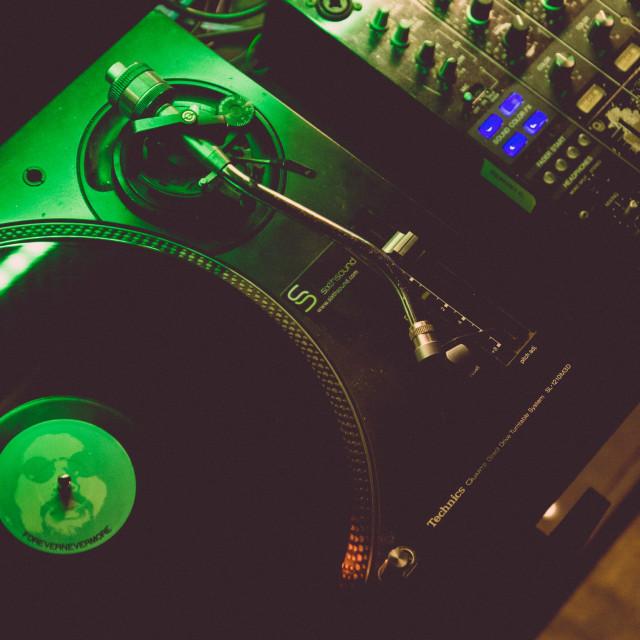 """Vinyl on Turntable"" stock image"