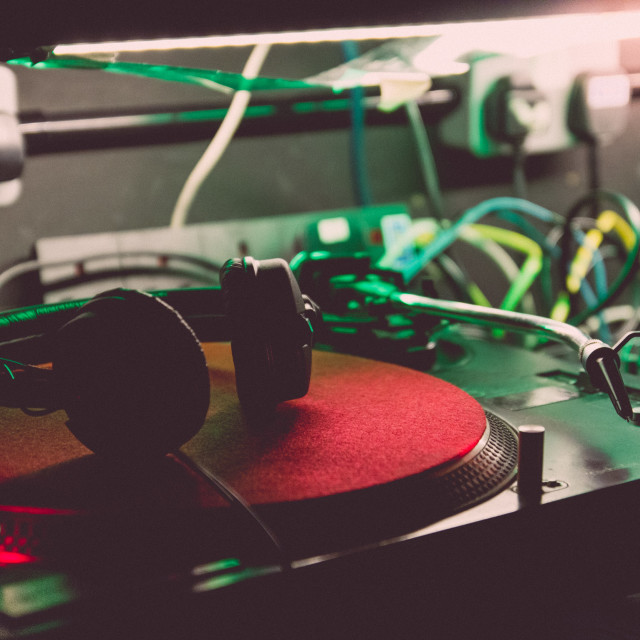 """DJ Set-up"" stock image"