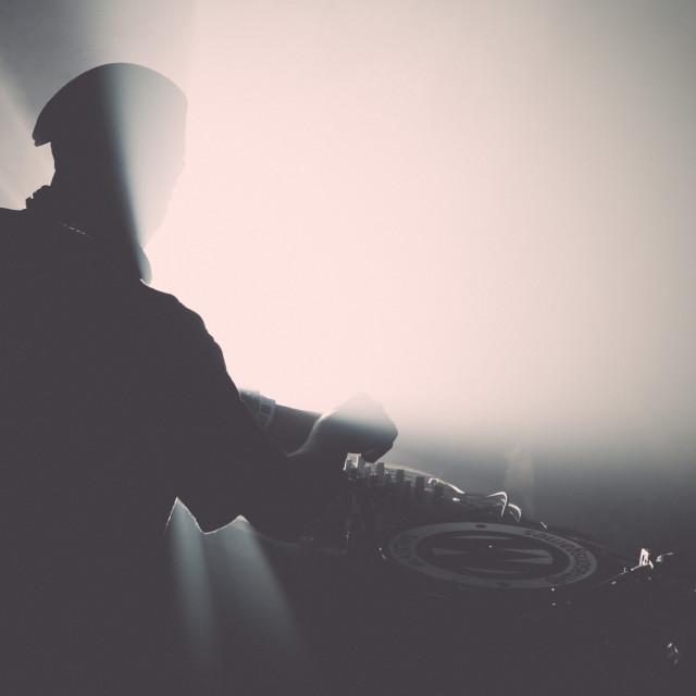 """""""DJ Silhouette 2"""" stock image"""