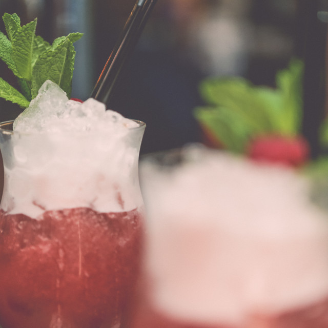 """Raspberry Cocktails (Close up) 2"" stock image"