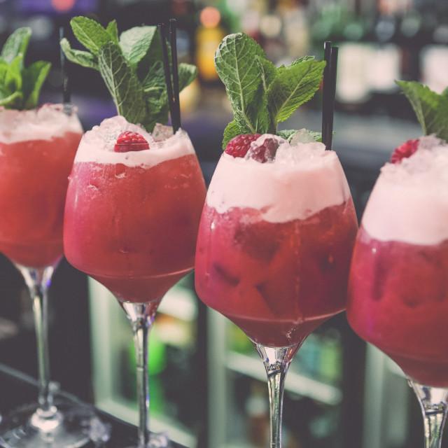 """Raspberry Cocktails"" stock image"