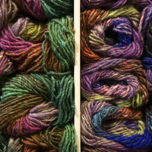 """Multicoloured skeins of wool"" stock image"