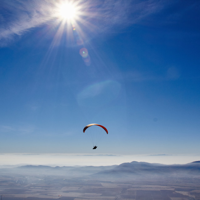 """The paraglider"" stock image"