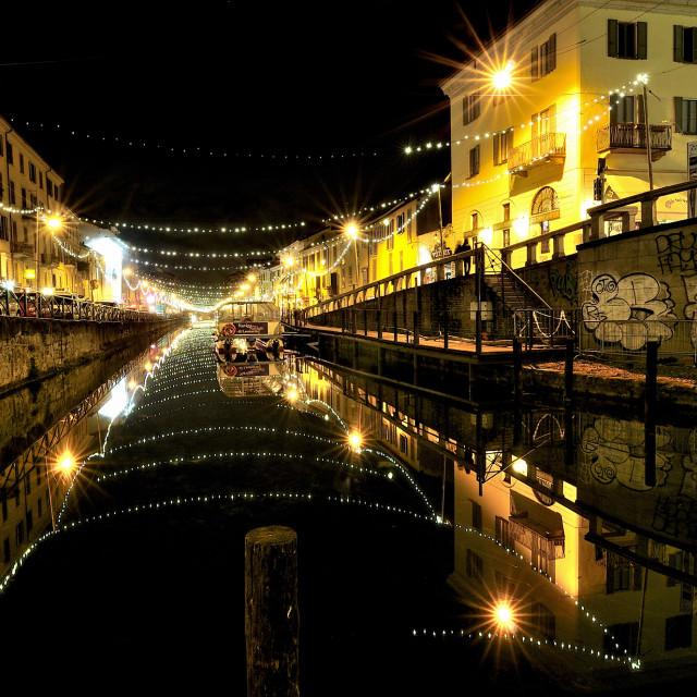 """""""Milano - Navigli"""" stock image"""
