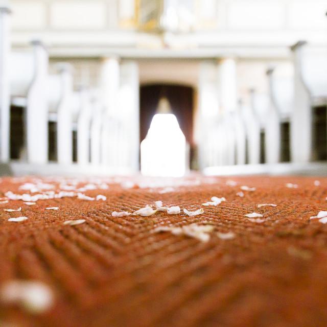 """Creamy church"" stock image"