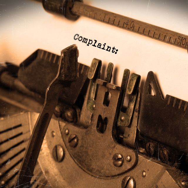"""""""Old typewriter with paper"""" stock image"""