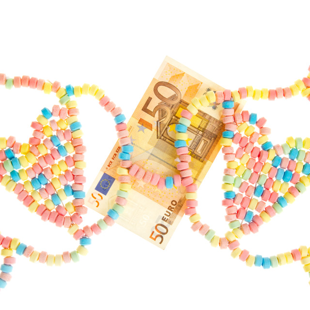 """""""Candy lingerie with money"""" stock image"""