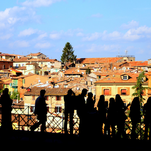 """Looking at Perugia"" stock image"