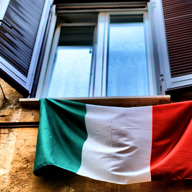"""Italian flag"" stock image"