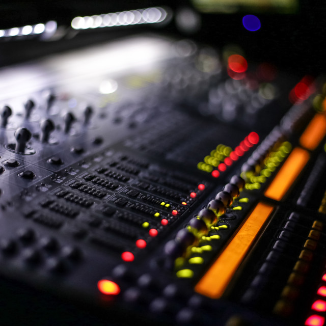 """Audio Desk"" stock image"