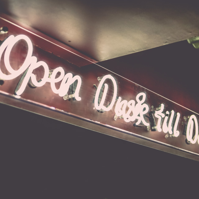 """Open Dusk till Dawn"" stock image"
