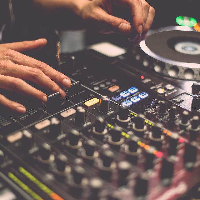 """In the Mix"" stock image"