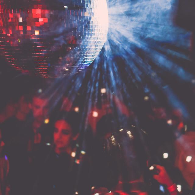 """""""Disco Crowd"""" stock image"""