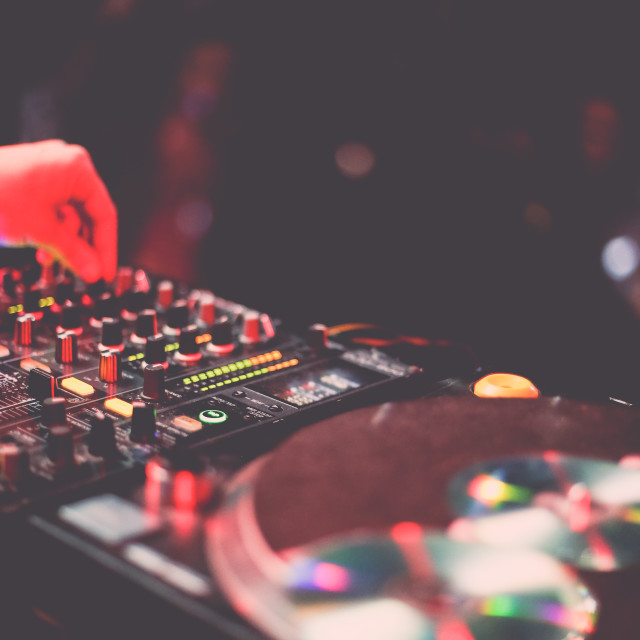 """""""DJ in the mix"""" stock image"""