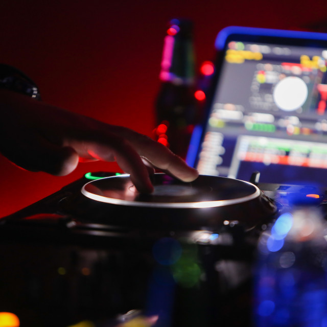 """CDJ Scratch"" stock image"