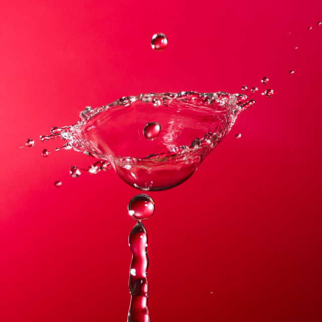"""Water drop collision"" stock image"