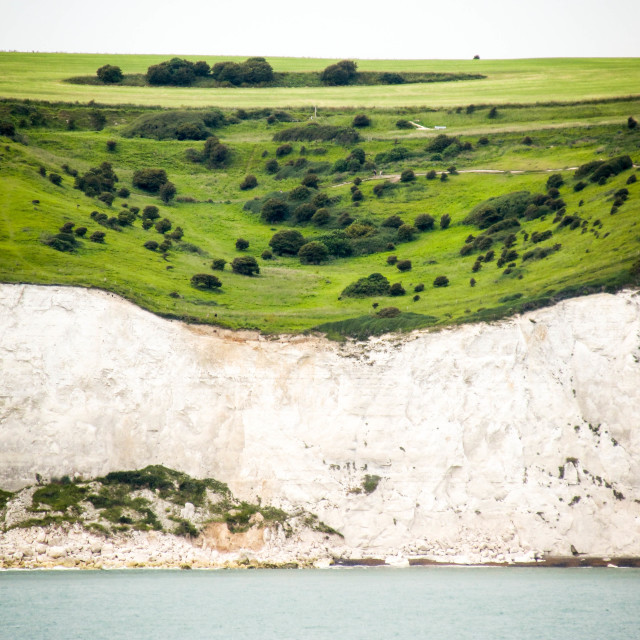 """""""The white cliffs of Dover"""" stock image"""